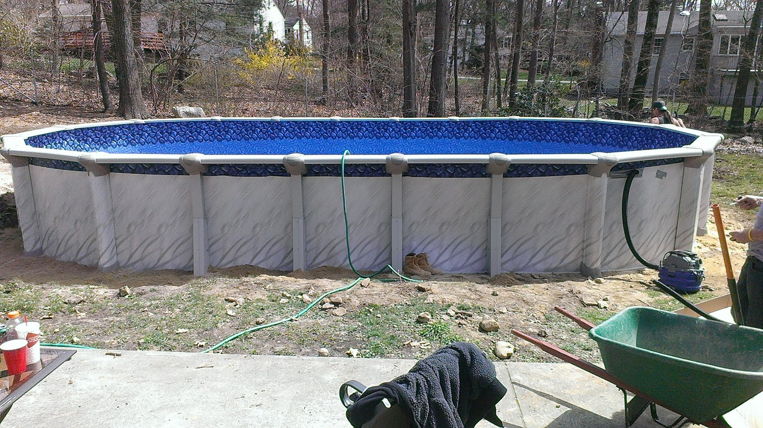 Above ground pool installation swimming pools photos - Above ground swimming pools installation ...