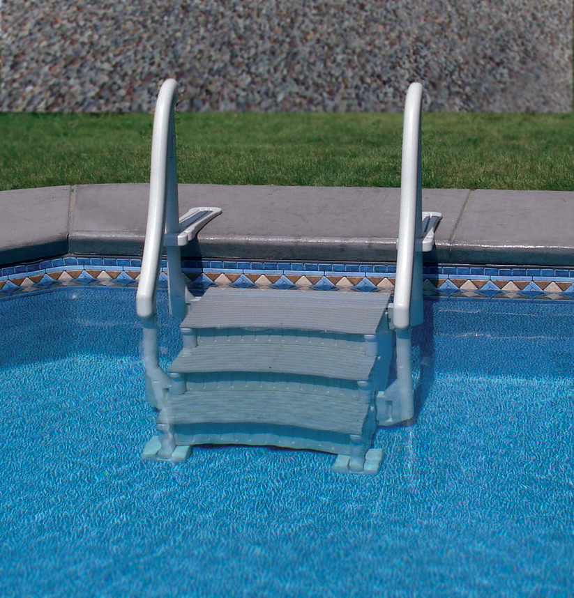 Drop in inground pool steps swimming pools photos for Above ground pool decks tulsa