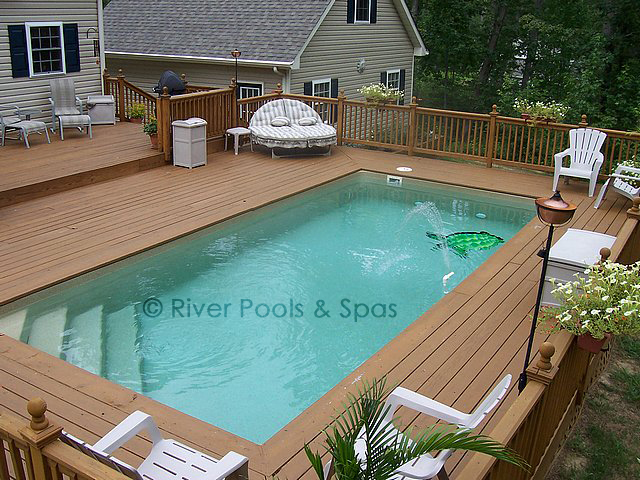 square above ground pool with deck. Fiberglass Pool Cost Square Above Ground With Deck D