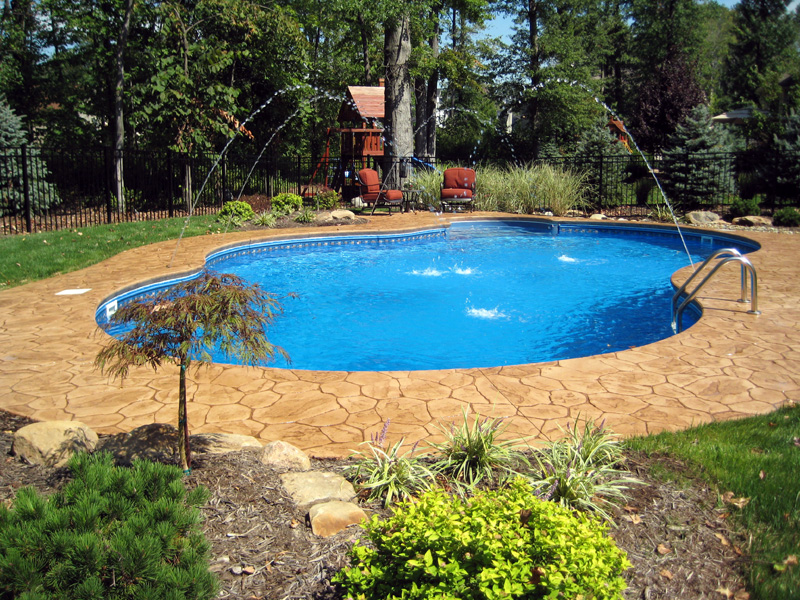 Foto Inground Pools Oklahoma Swimming Pools Photos