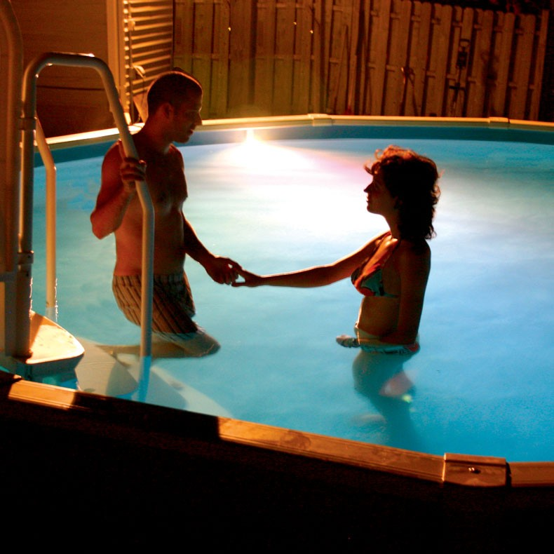 how to change inground pool lights