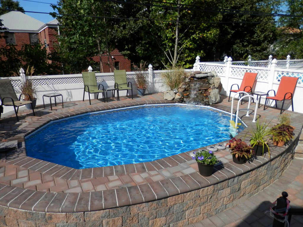 how to clean inground pool steps