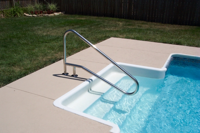 In Ground Pool Ladders Installation Swimming Pools Photos