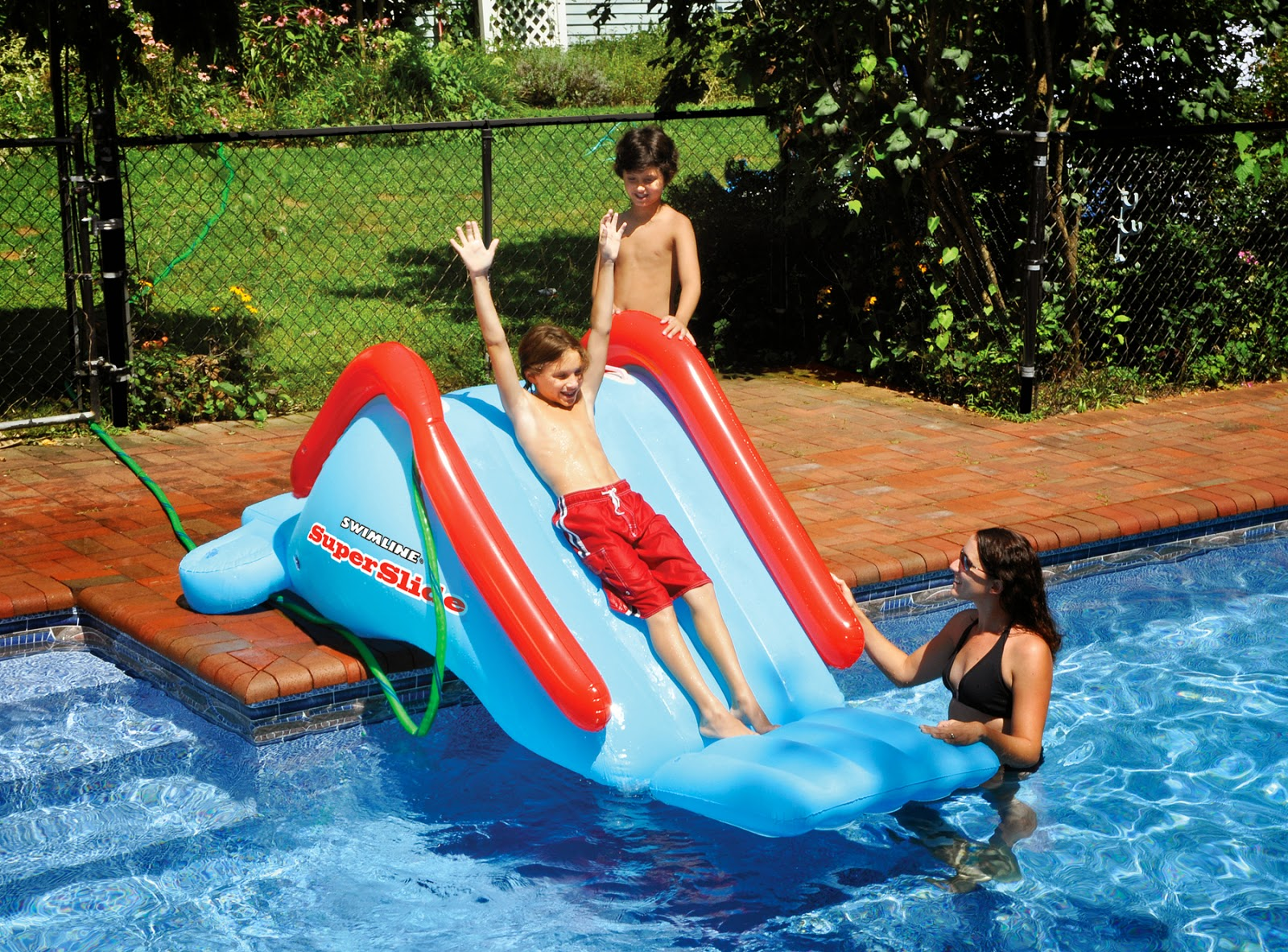 inflatable inground pool slides