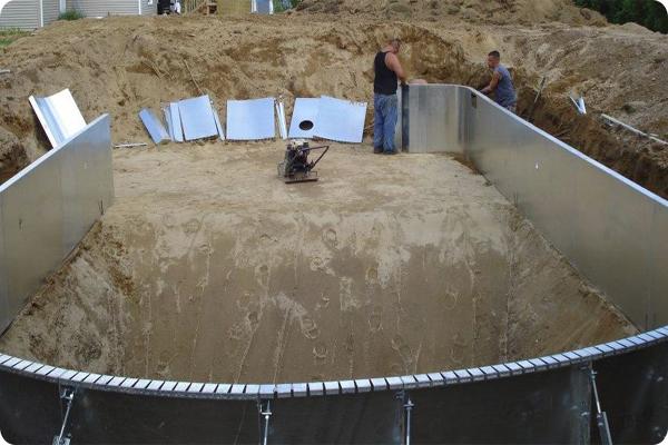 Kit swimming pools photos for Inground pool installation