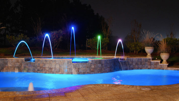 Outdoor Pool Lights Swimming Pools Photos