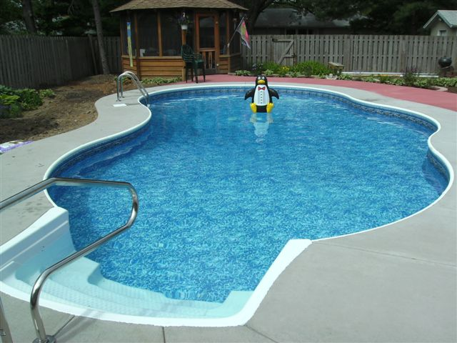 Inground Pool Liner Track Swimming Pools Photos