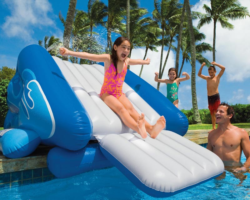inground pool slides inflatable