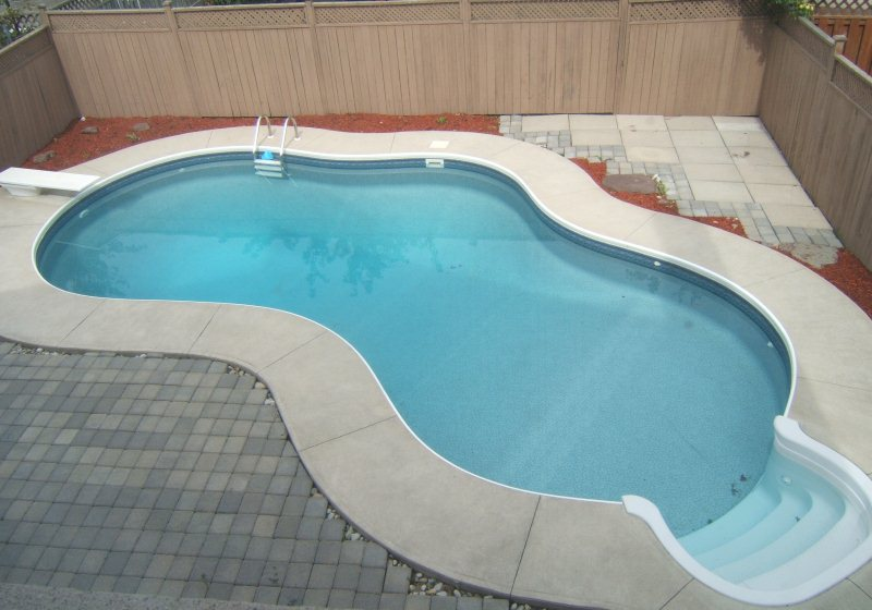 Inground Pool Slides Inter Fa Swimming Pools Photos