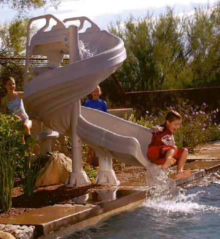 Inground Pool Slides On Pic Swimming Pools Photos