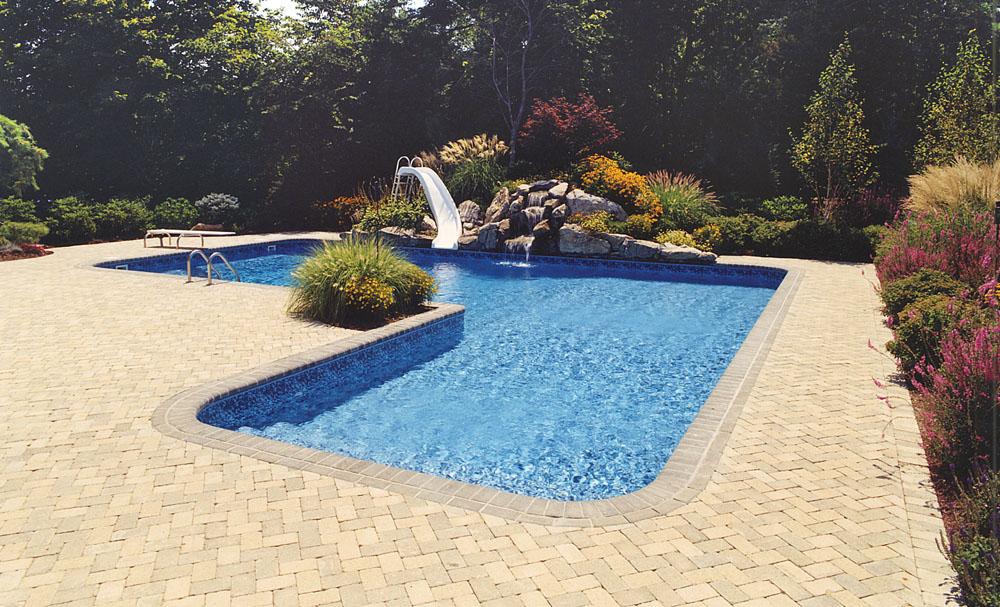 Inground Pool Slides Pic Swimming Pools Photos