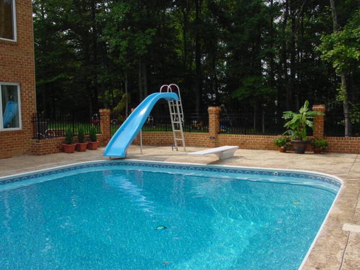 Inground Pool Slides Swimming Pools Photos