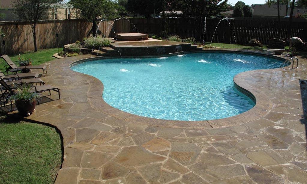 inground pool steps foto