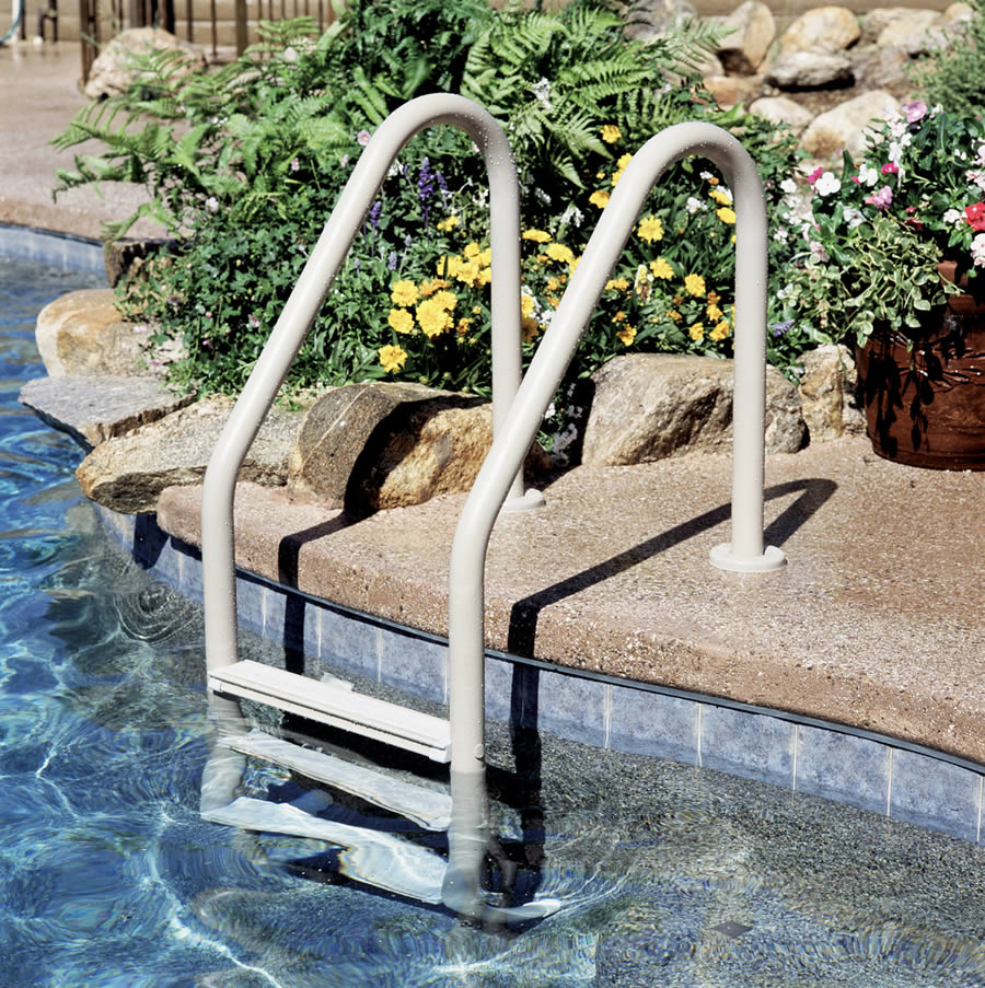 inground pool steps ladders