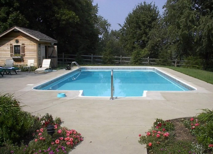 inground pools photos installed