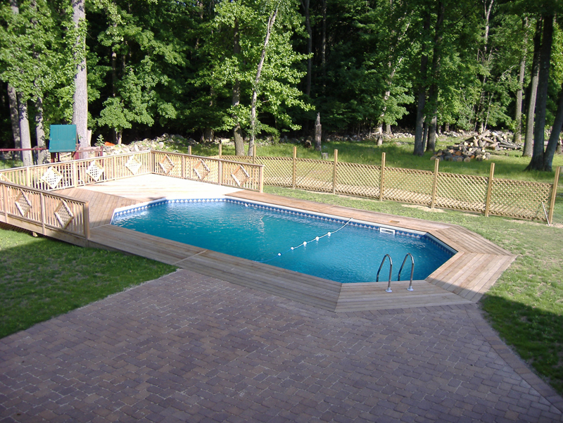 Semi Inground Pool Swimming Pools Photos