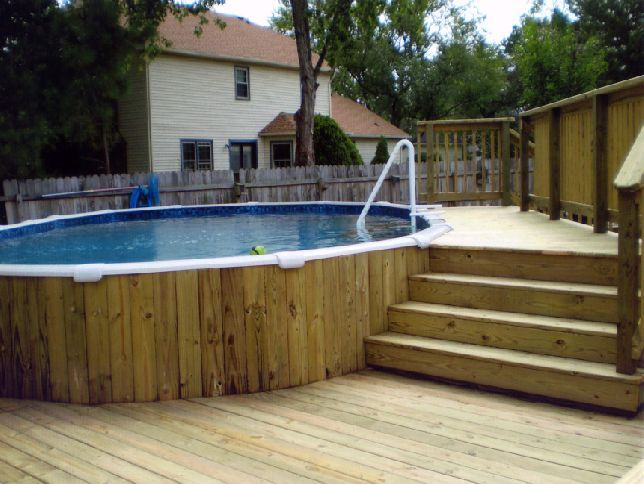 above the ground pools with deck
