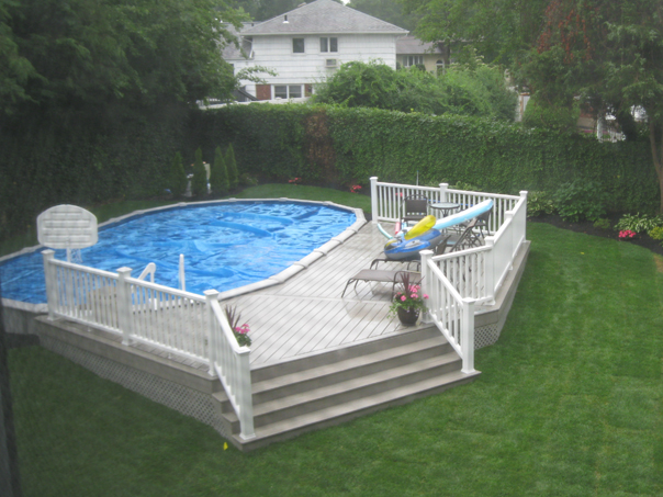 above the ground pools with decks pricing