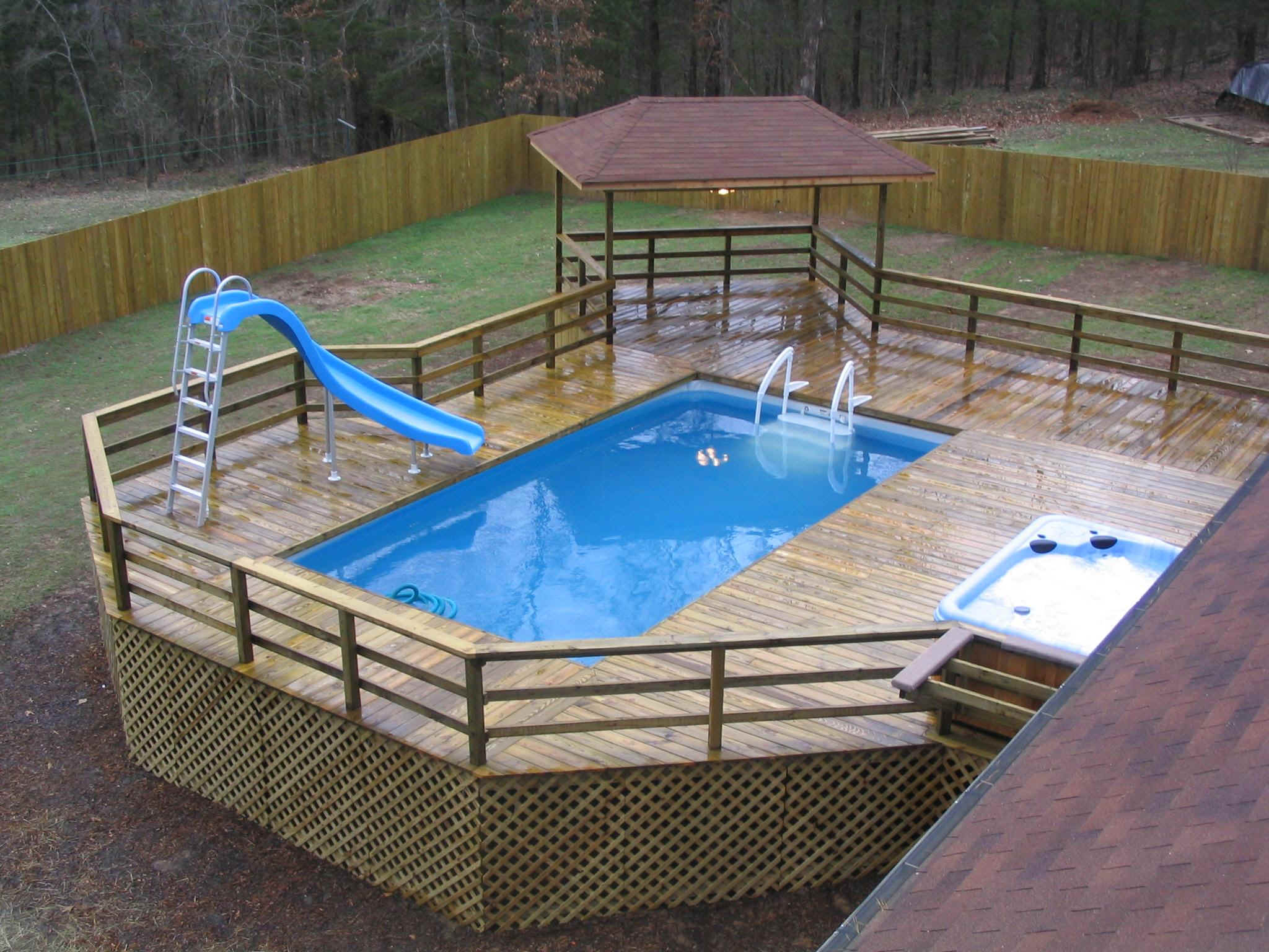 above the ground pools with decks