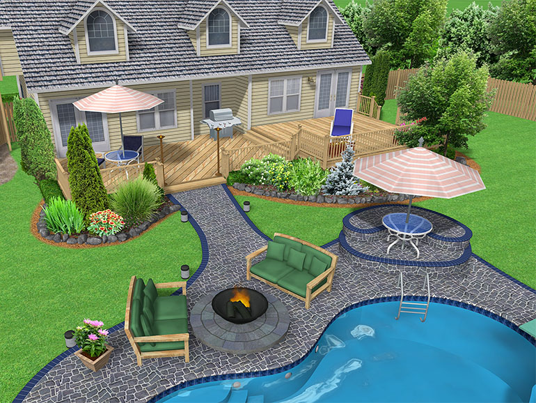 backyard pools and landscaping