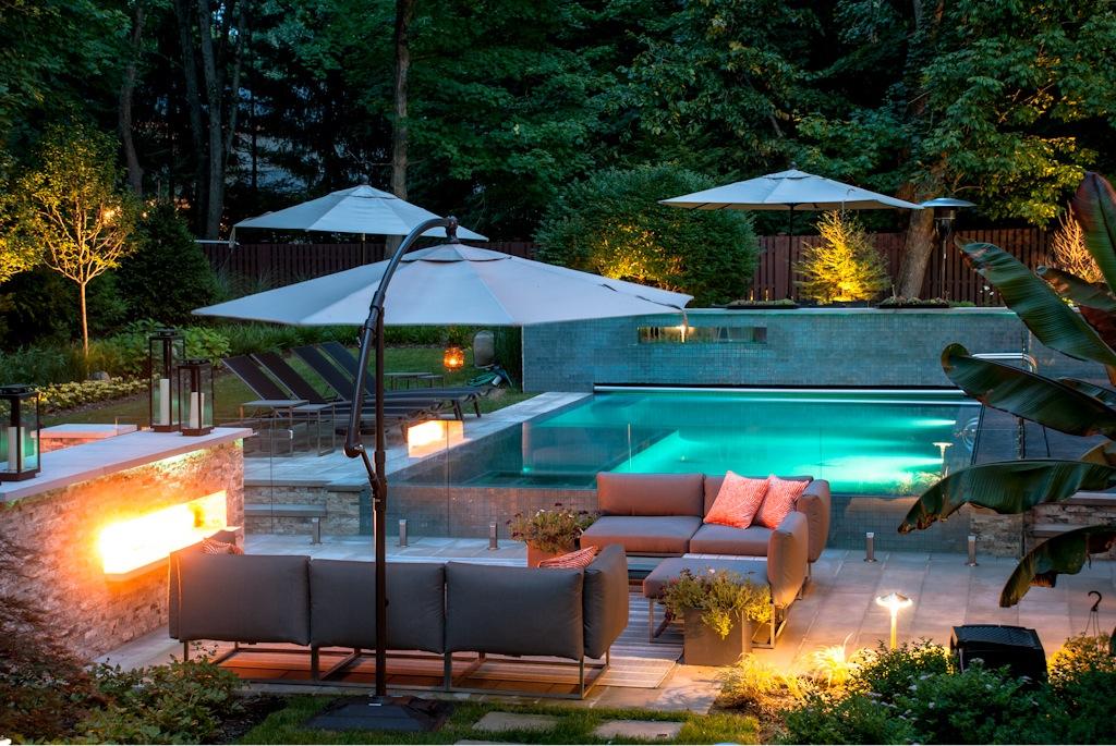 backyard pools and patios