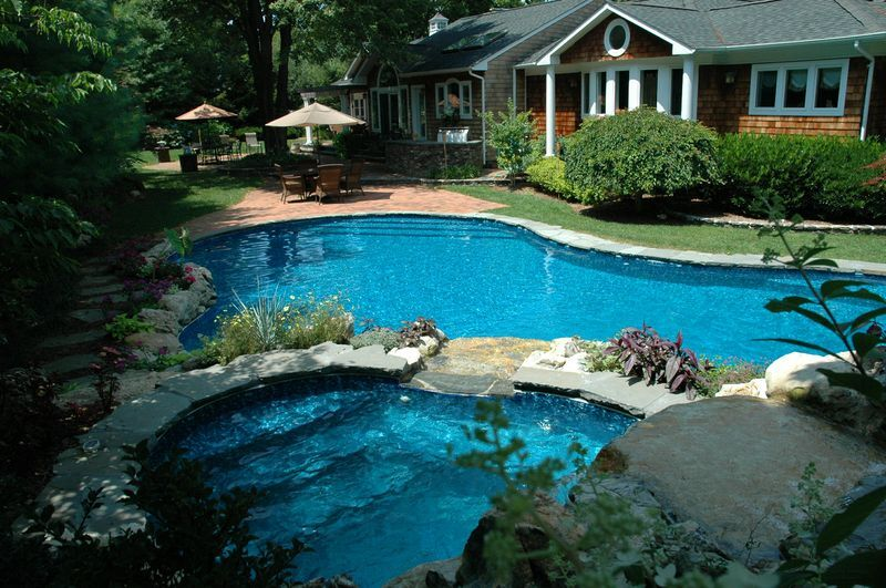 backyard pools and spa