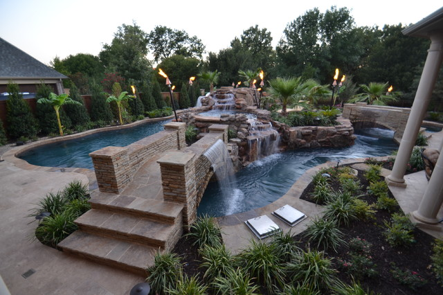 backyard pools with lazy river