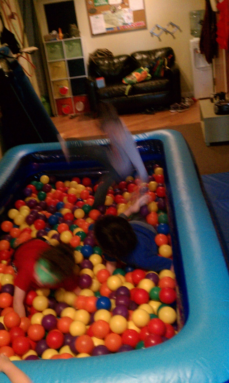 blow up pool ball pit