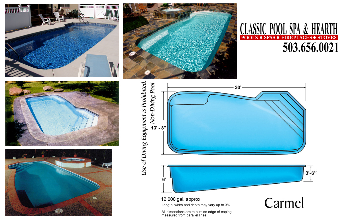 inground pools sizes