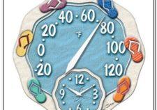 outdoor swimming pool clocks