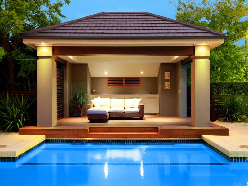 outdoor swimming pool deck lighting