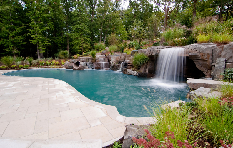 outdoor swimming pool decorations