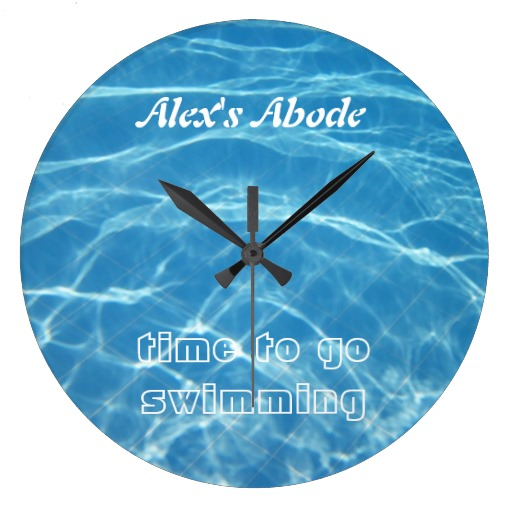 pool swimming clock