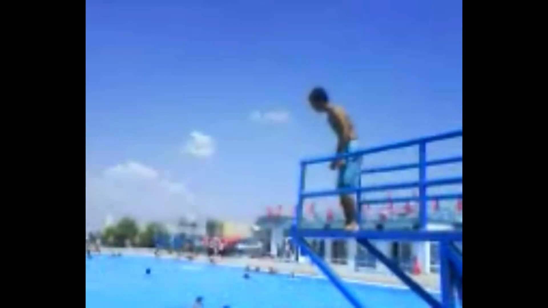 pool swimming tricks