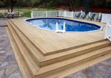 pools above ground with decks