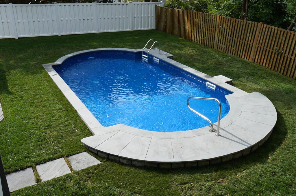 semi inground pools cost