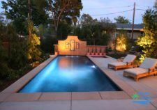 semi inground pools houston