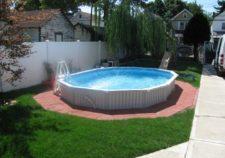 semi inground pools images