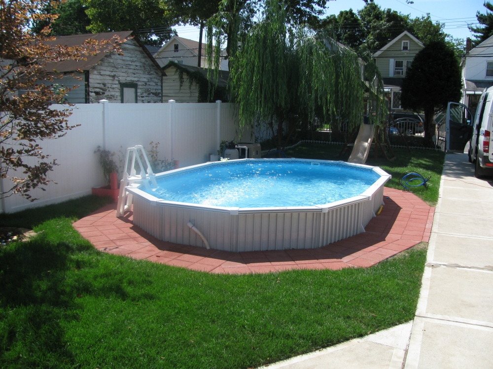 semi inground pools images
