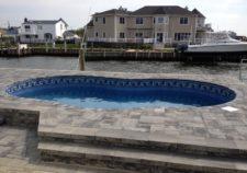 semi inground pools michigan
