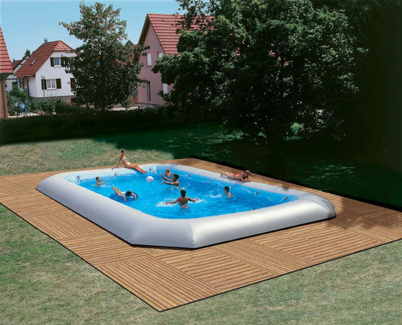 semi inground pools pictures