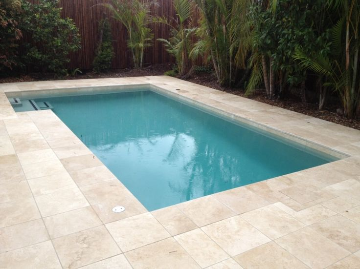 small inground pools tiled