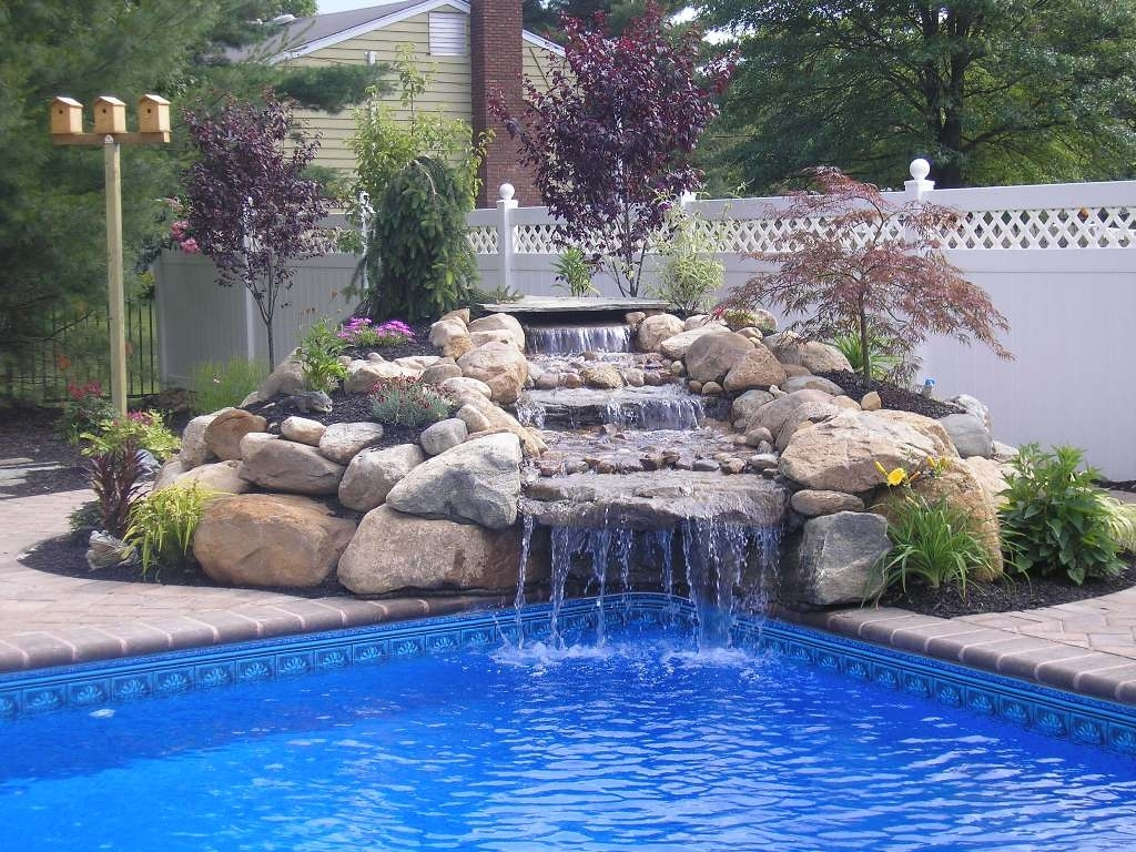 small pools with waterfalls