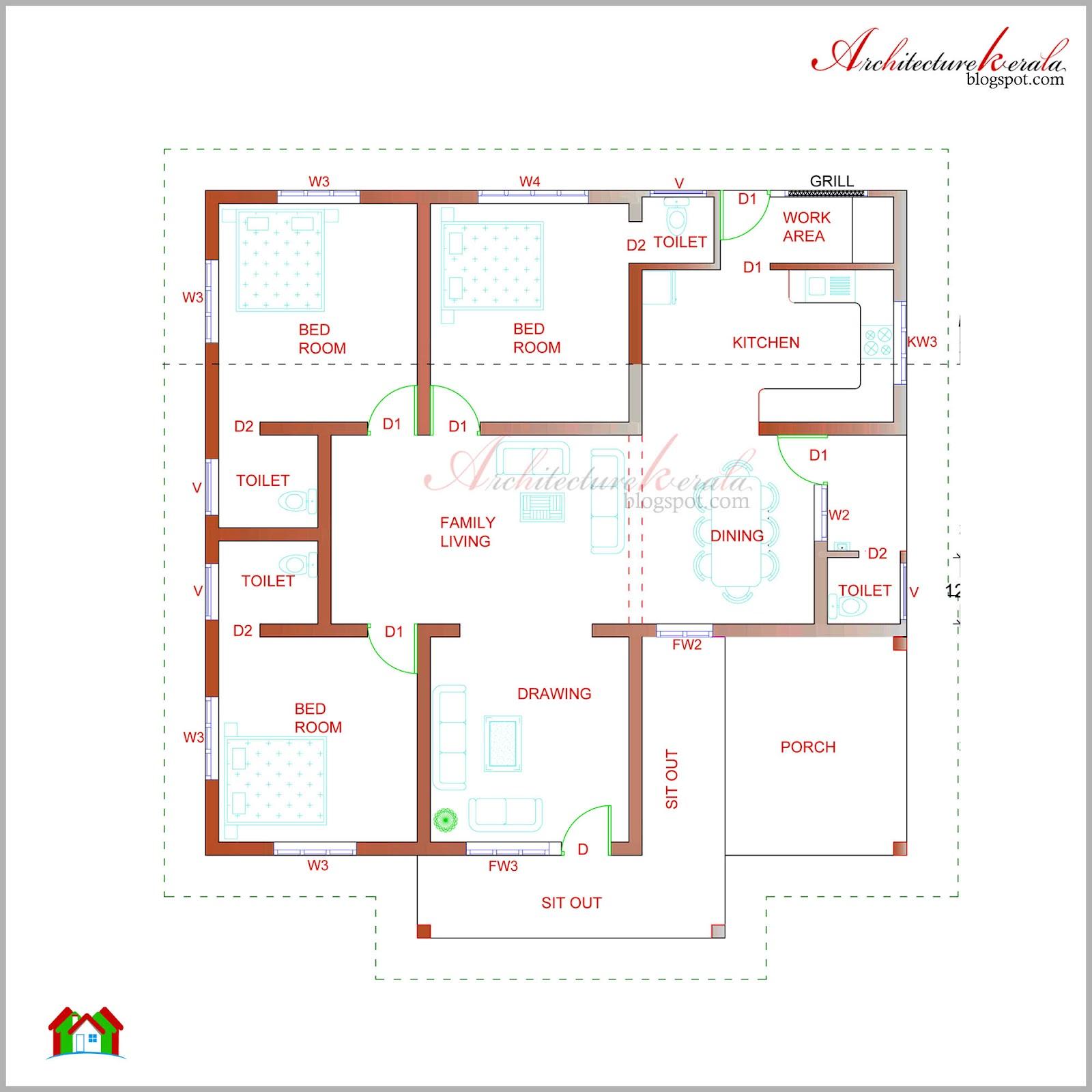 Kerala Style House Plans Below 800 Sq Ft