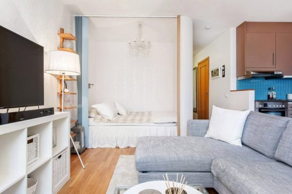 Planning of the one-room apartment