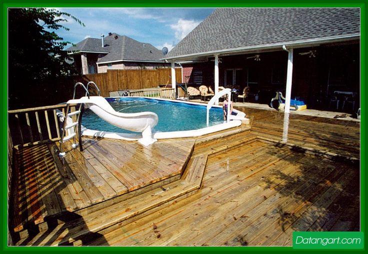 above-ground-pool-pool-slide